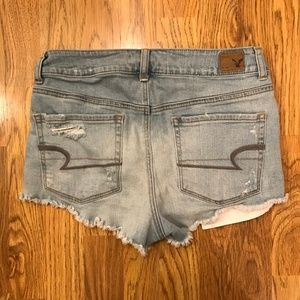 American Eagle Stretch Hi-Rise Shortie Distress 8